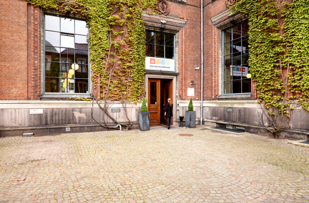 Entrance area at the Danish Art Library