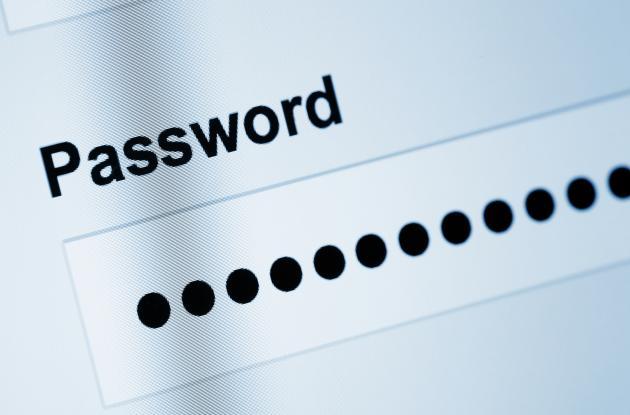 Password box on screen