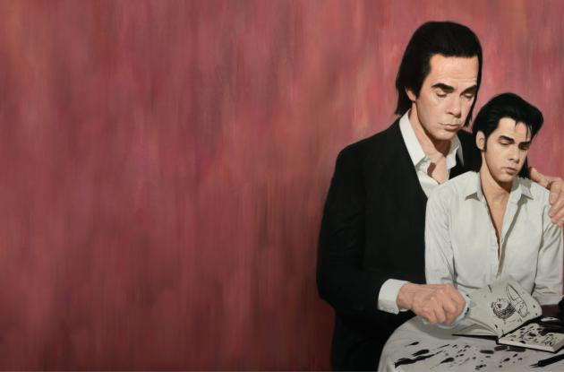 Drawing with motif by Nick Cave for the exhibition Stranger Than Kindness