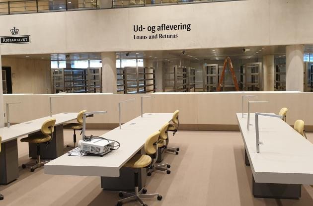 The Royal Library and the National Archives. Common research reading room