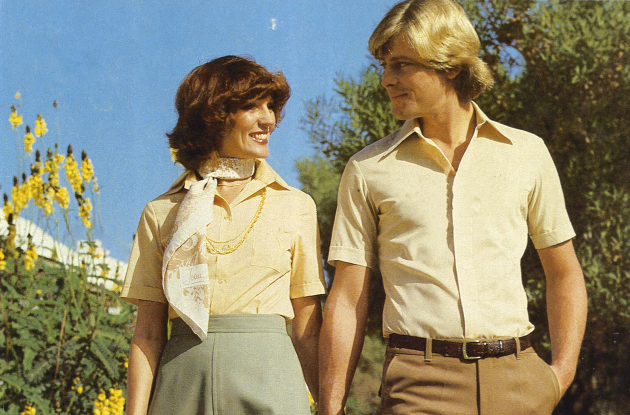 Young couple. Front page of Daels Warehouse Catalog 1979