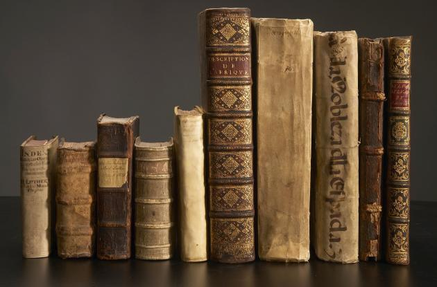 A series of old printed books