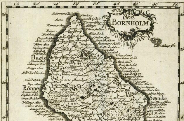 Map of Bornholm