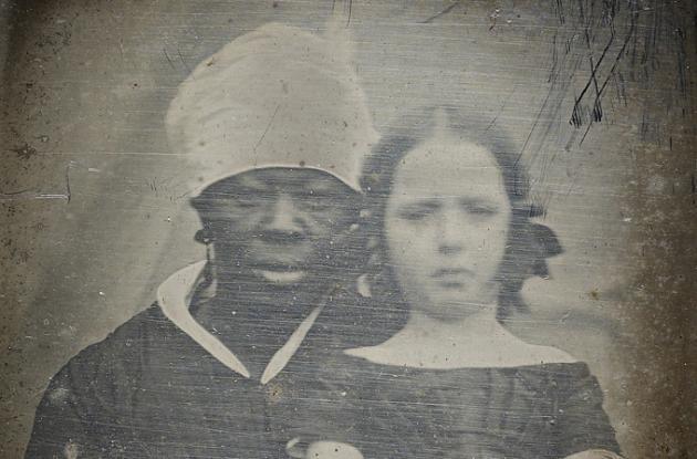 Portrait of Louisa Bauditz and her wet nurse Charlotte Hodge