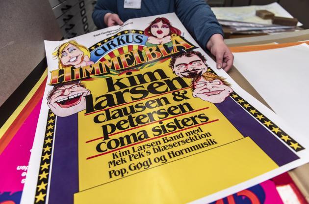 Plakat fra Cirkus Himmelblå