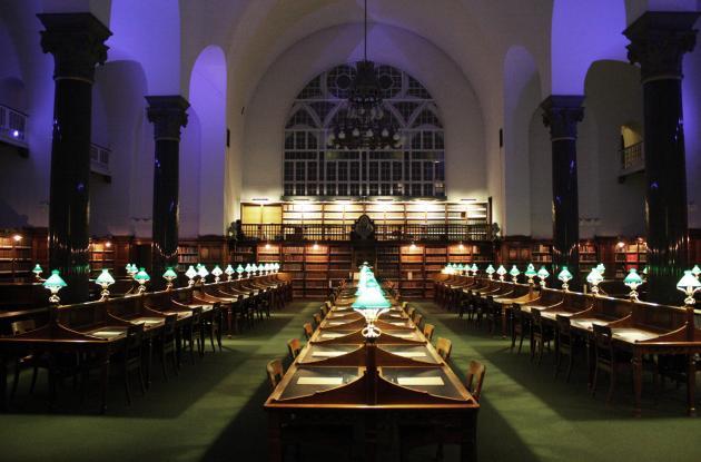 The old reading room in Det Kgl. Bibliotek