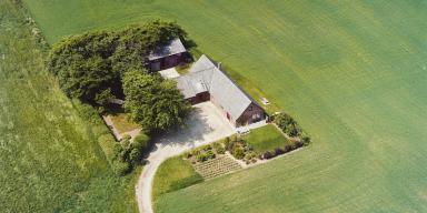 Aerial photo of Danish country estate