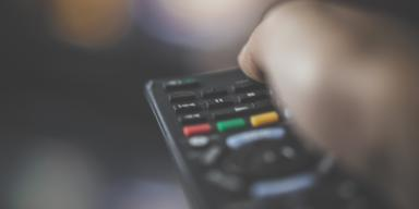 Video Hand with remote control for TV