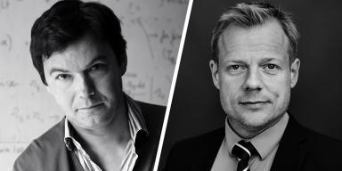 Portrait mosaic: Thomas Piketty and Rune Lykkeberg