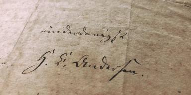H. C. Andersens ansøgning med underskrift