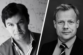 Billedmosaik Thomas Piketty og Rune Lykkeberg