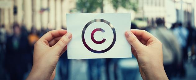 Paper with copyright symbol