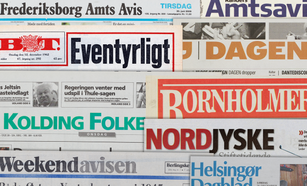 List Of Newspapers In The Collection Det Kgl Bibliotek