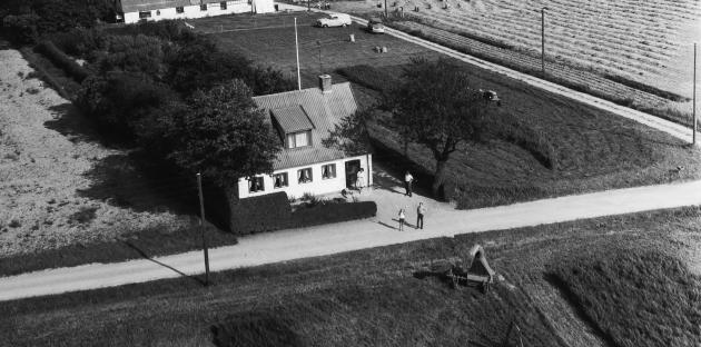 Aerial photo: the property Bonderupvej 69 in Ubberup near Ugerløse