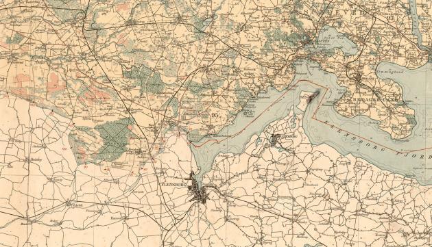 Kort over grænsen efter genforeningen