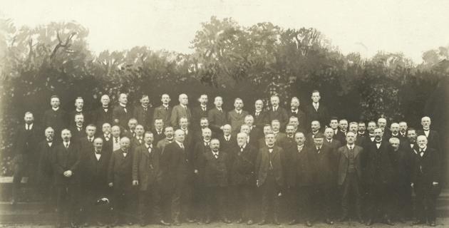 Vælgerforeningens bestyrelse og tilsynsråd, som vedtager Aabenraa Resolutionen, 1918