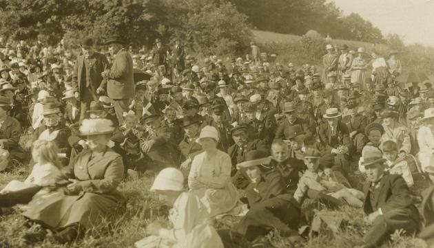 Møde i Aabenraa på Genforeningsdagen, 1922