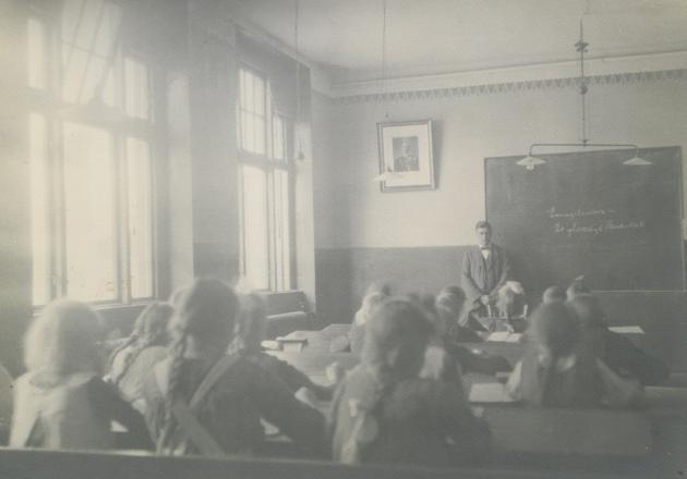 Klasselokale på Højer Skole