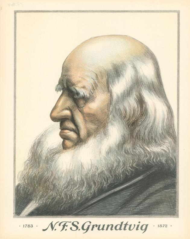 Portræt af N.F.S. Grundtvig