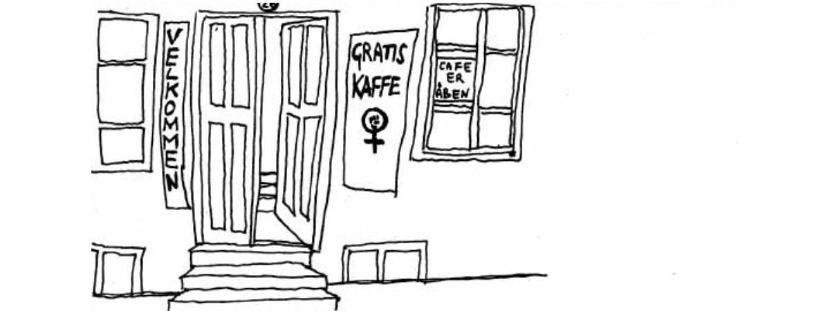 Sådan blev kvindehuset præsenteret i rødstrømpe-udgivelsen Qmokke ved åbningen i 1970.